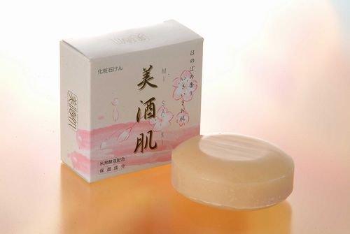 美酒肌(みさき)石鹸「米ぬか配合」100g