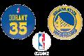 NBA[NBA] 缶バッチ「ケヴィン=デュラント」[3個セット]