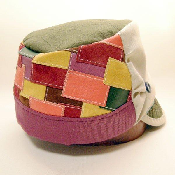 【フルオーダー例】「山女日記」柚月さんの帽子M.K様(2246)後ろパッチワークオーダーメイドキャスケット(60cm仕上げ→57cm仕上げに変更)