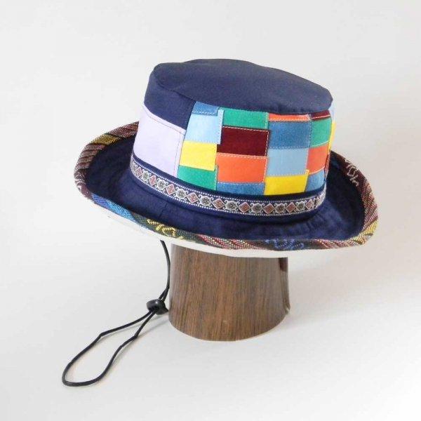 【OD2521】「山女日記」陽菜さんの帽子(ハット・後ろパッチワーク)素材と色をカスタムしたオーダーメイドの帽子です。