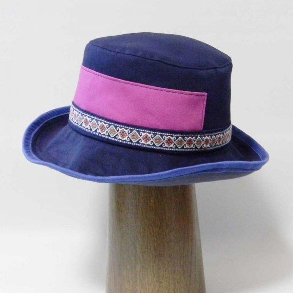 【オーダーメイド帽子】お子様用耳当て日よけつきハット K.C様 54cm仕上【OD2348】