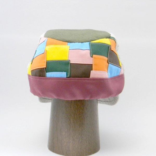 【オーダーメイド帽子】【オーダーメイド帽子】柚月さんキャスケット パッチワーク綿素材 N.F様 55.5cm【OD2436】