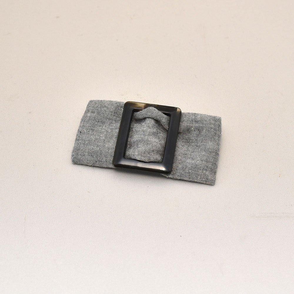 ブリム(つば)に99%遮光生地使用。【PL1670】 ブリムアップクロッシェ/グレー・オフホワイト