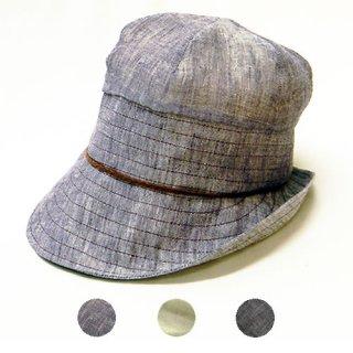 cf3327a13d505 とんがりキャスケット。ステッチのきいたナチュラルなデザイン。レディース 帽子 通販 ナチュラル サイズ調整OK 麻素材