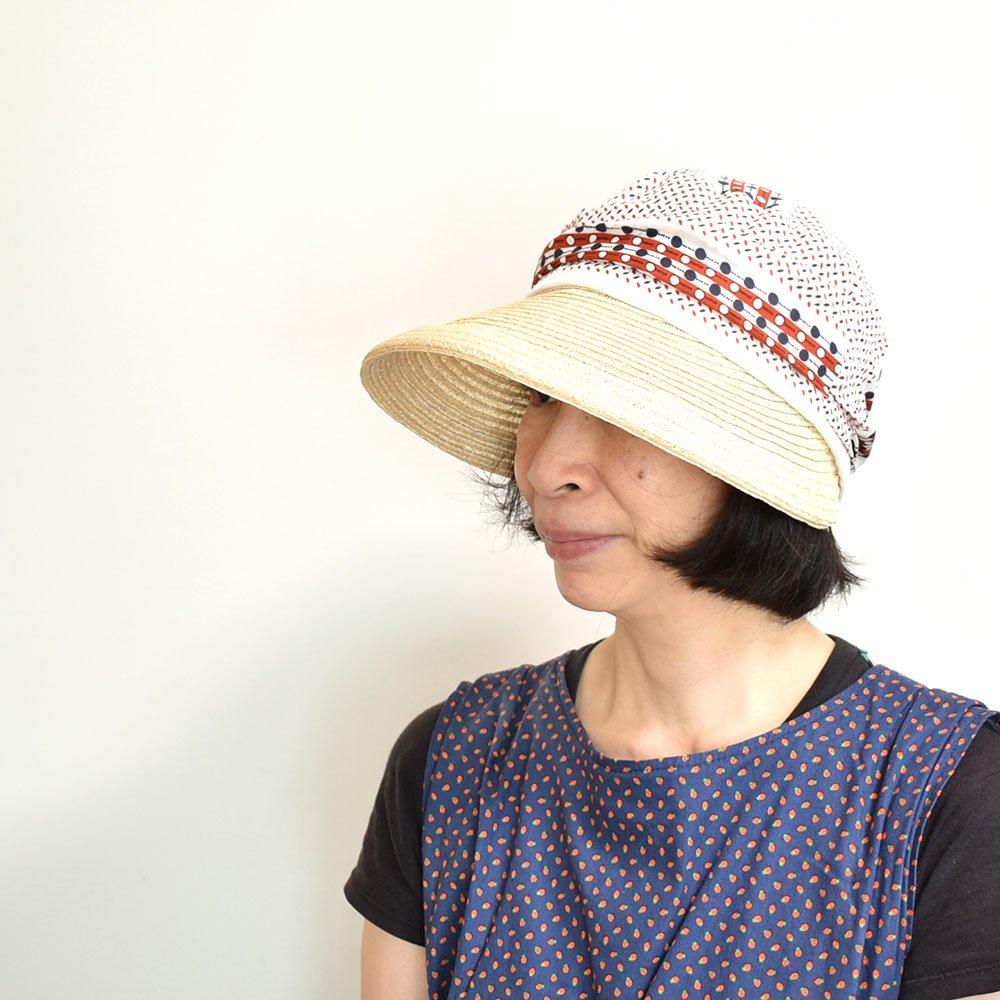 だんだんになったクラウンが個性的なキャスケット【だんだんキャスケット】レディース帽子 サイズ調整OK PL1527