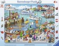 パネルパズル どこにある?港の風景 (ドイツ・ラベンスバーガー社)