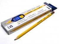 STAEDTLER ステッドラー イエロー鉛筆 (消しゴム付き) HB 12本入り