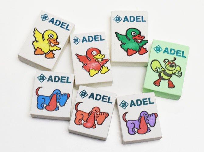 ADEL アデル 消しゴム 7個セット