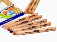【送料無料(メール便)】LYRA リラ ファルビー 色鉛筆 12色 ショートサイズ 白木軸 / FERBY ファービー