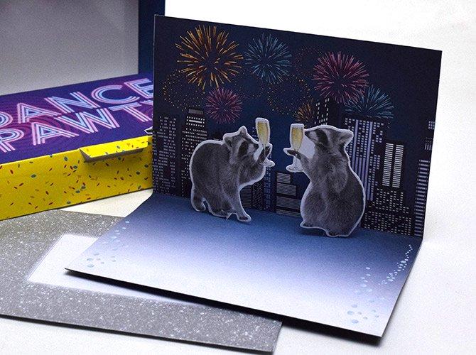 croniclebooks クロニクルブックス パーティ アニマル ポップアップ カード(10枚セット)