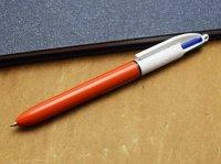 BiC ビック 4色ボールペン (赤軸 0.7mm)