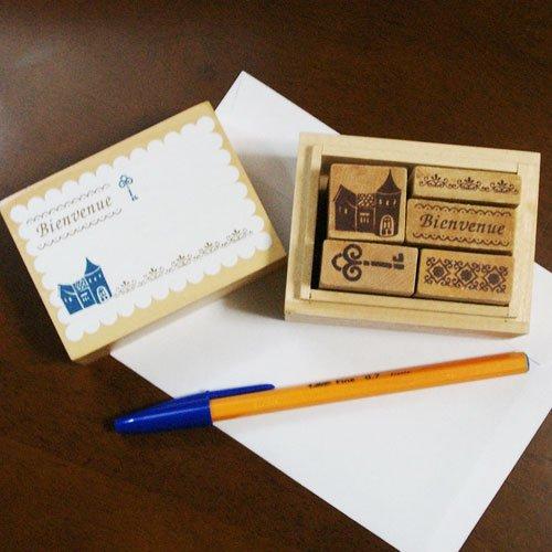 """Wooden Stamp """"Bienvenue"""""""