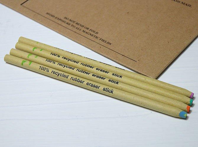 エコ 鉛筆型ケシゴム(4本セット