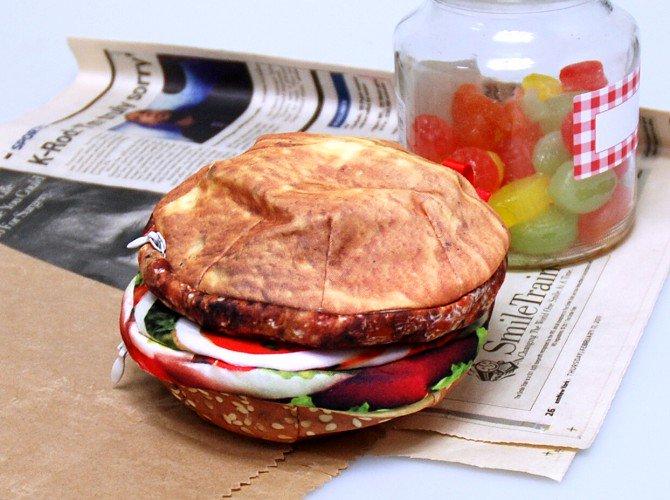 ハンバーガー ダブルポーチ