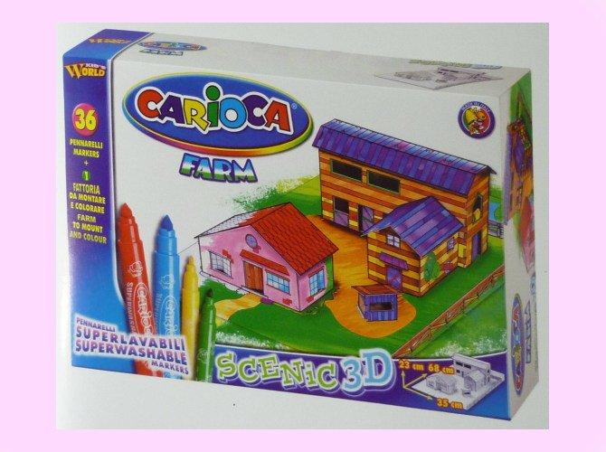 CARiOCA カリオカ 3D パズル&ぬりえセット [農場]