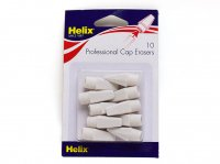 Helix へリックス ペンシルトップ消しゴム ホワイト(10個入り)