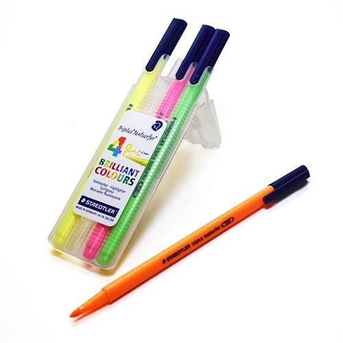 STAEDTLER ステッドラートリプラス テキストサーファー・蛍光ペン4色セット