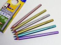 LYRA リラ カラージャイアント メタリック色鉛筆 6色セット