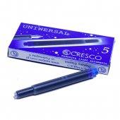 CRESCO クレスコ 万年筆インクカートリッジ ユニバーサル / ブルー 5本入り