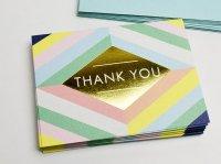 【GALISON】 メッセージカードセット(Thank you / ありがとう ) GEOMETRIC PASTEL (10枚入り)