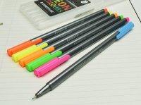 STAEDTLER ステッドラー トリプラス ファインライナー 細書きペン ネオンカラー 6色セット 334 SB6CS3