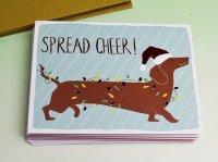 GALISON 【ホログラム入り】 クリスマスカード セット [ DACHSHUND SPREAD CHEER ]