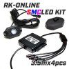 SMC LEDセット:Bluetooth:4球タイプ:説明書付:汎用1セット