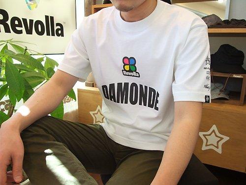 REVOLLA ユニセックス DAMONDE「だもんで」Tシャツ(ホワイト)