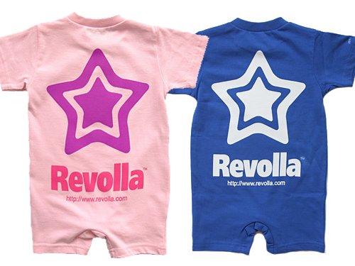 REVOLLA お名前入り半袖ロンパース【出産祝い,お名前入り無料サービス】