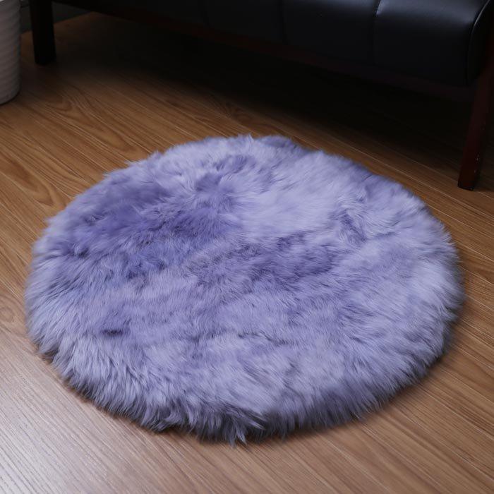 ムートン長毛円形クッション(R60)