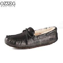 OZZEG Australia モカシン(光沢タイプ)ブラック