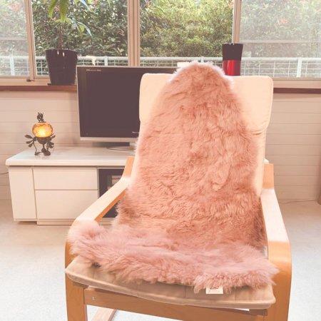 ムートン長毛フリース ローズ 1.5匹タイプ 約60x120cm