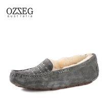 OZZEG Australia モカシン(ダイヤ) グレー 23cm