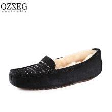 OZZEG Australia モカシン(ダイヤ) ブラック 23.5cm