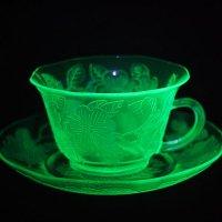 ドッグウッド カップ&ソーサー緑