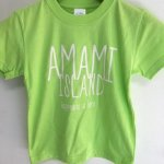 [クロネコDM便]TREASUREBOX-MUZIK AMAMI ISLAND HAPPINESS KID'S TEE (L.GRN)