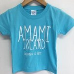 [クロネコDM便対応]TREASUREBOX-MUZIK AMAMI ISLAND HAPPINESS KID'S TEE (AQUA)