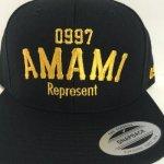 REP 0997 AMAMI SNAPBACK CAP (BLK/GOLD)