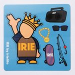 IRIE by irielife ( アイリーバイアイリーライフ ) POWKING WATERPROOF STICKER