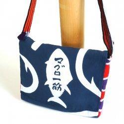 【大漁旗×大漁手ぬぐい】大漁だべさショルダーバッグ 紺_19