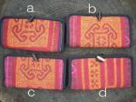 経年の風合いがいい感じ♪ヘンプ古布+モン族古布刺繍の長財布*8