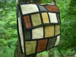 草木染めヘンプのハーフフラップショルダー*ベルト編みこみ2