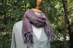 コットンざっくり手織りスカーフ