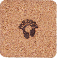 FREEDOM 焼印ロゴ入りコースター2個セット (正方形、丸型の2種類) - もう少しで送料無料のときに☆