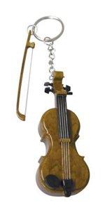【楽天市場店★割引き】バイオリンのキーホルダー - 本当に弾いているみたいに・・・