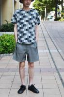 【SOLD OUT】m's Braque  Monotone Bloc Pattern T-Shirts
