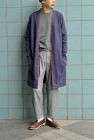 <img class='new_mark_img1' src='//img.shop-pro.jp/img/new/icons20.gif' style='border:none;display:inline;margin:0px;padding:0px;width:auto;' />FRANK LEDER  Organic German Linen Long Cardigan (Navy)