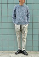 【SOLD OUT】 UNITUS  Marble Cotton Knit (Blue Marble)