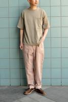 【SOLD OUT】crepuscule  Pocket Short Sleeve Knit (Greybeige)