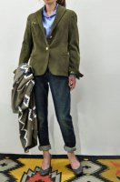 <img class='new_mark_img1' src='//img.shop-pro.jp/img/new/icons8.gif' style='border:none;display:inline;margin:0px;padding:0px;width:auto;' />m's Braque  Seemless 2B Jacket /Khaki Corduroy